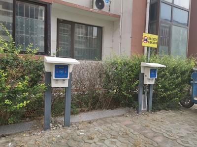 郑州昌原山东府前一品小区2路大功率充电插座安装案例