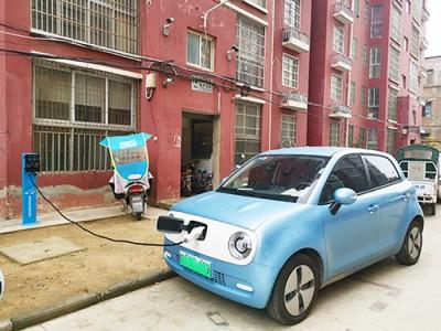 郑州昌原新能源汽车7kw交流充电桩安装现场