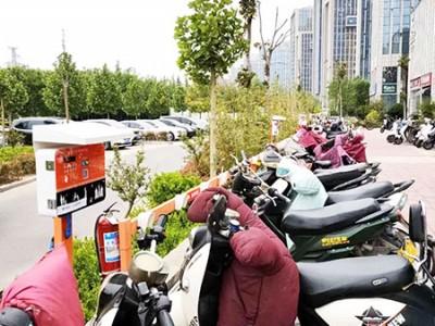 郑州昌原小区电瓶车扫码充电站安装案例