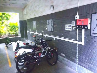 郑州昌原电动自行车充电站某小区安装案例现场