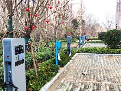 郑州昌原开封某小区电动汽车充电桩安装现场