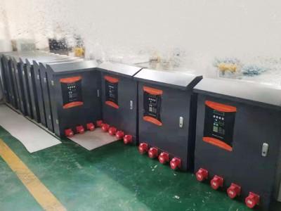 郑州昌原客户定制4路大功率380v充电设备安排发货
